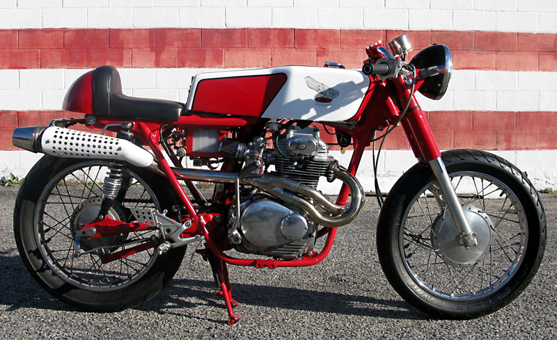 Found this Honda CL350 cafe racer on the unusually named motorcycle blog watermelon18. Kenny, the owner of this motorcycle and blog is no professional bike ...