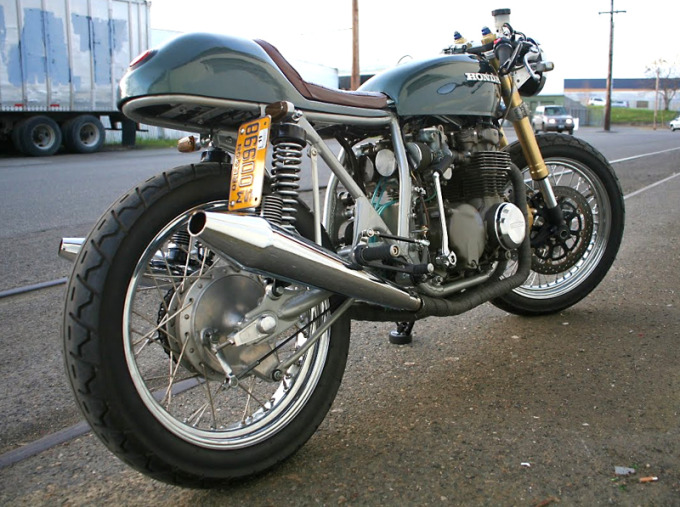 Discovered this beautiful CB550 on the frequently updated and entertaining Motorcycle Picture of the Day blog. Completely garage built by a guy called Eric, ...