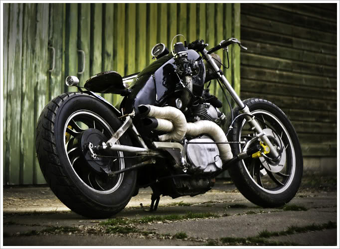 """I run a site called shedbuiltbikes.com and I built the Virago together with a friend of mine, Vincent Verdouw. He is at this moment building a Ducati cafe ..."