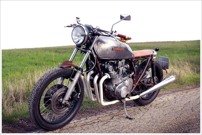 1977 suzuki gs750 - 'rusty bitch' - pipeburn