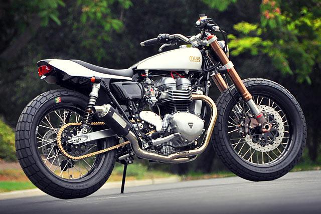 'Colonel Mustard' Triumph Street Tracker – Mule Motorcycles