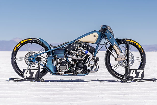 ALTER EVO. A Harley Turbo Salt Racer by Argentina's Lucky Custom