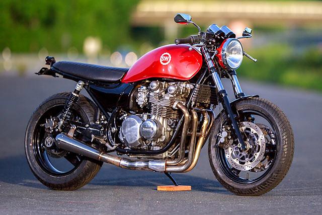 WHOLE LOTTA LOVE. Schlachtwerk's 'Big Bertha' Naked Kawasaki Zephyr 750