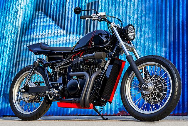A THOUSAND CUTS. ADS Motorcycles' 'Plan-Z' Honda VT750RS Street Tracker