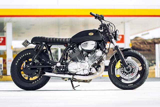 TALLADEGA KNIGHTS. Rogue Motorcycles' NASCAR-Inspired Yamaha XV1100