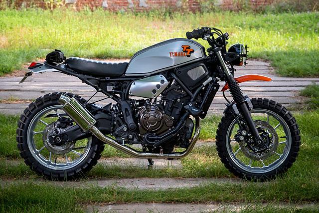 T YOU LATER. Hageman Motorcycles' 'TT500' Yamaha XSR700 Enduro