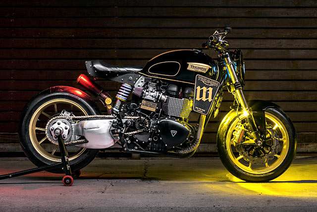 HIGHWAY TO HELL YES. Mandrill's 'Power Street' T100 Triumph Racer