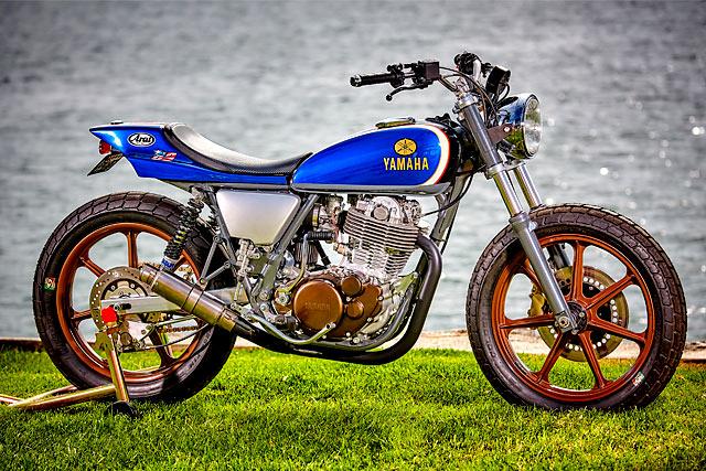KICK ASS. Mule Motorcycles' Yamaha SR500 Tracker