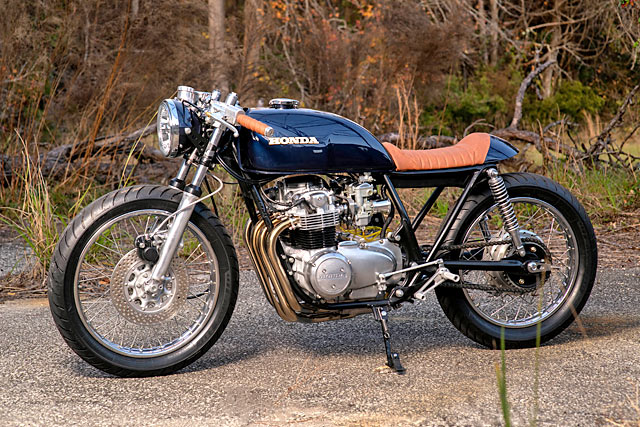 WAR HORSE. David Meyers' Majestic 'Balios' Honda CB550 Cafe Racer