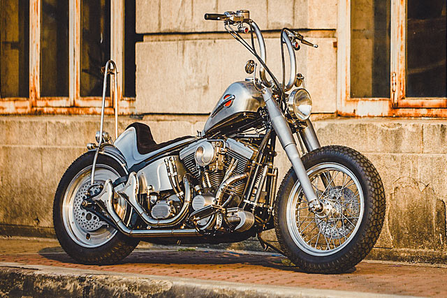 COOL CHANGE. Benjie's Classic Harley Softail Bobber