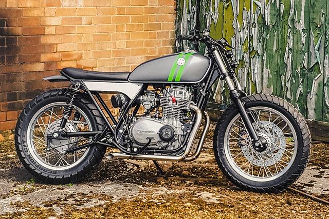 ZEE WHIZ. BGM Cafe Racer's '78 Kawasaki Z400 Street Scrambler