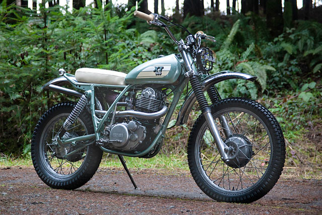 FORREST THUMP. Red Clouds' Twin Yamaha XT500 Enduros