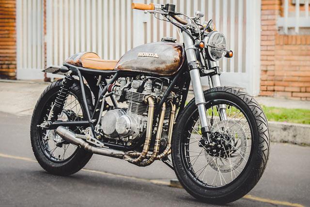 ROUGH AND READY. Pasquale's '111' Honda CB500 Cafe Brat