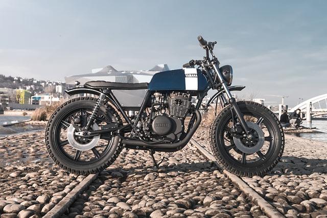RIDE THE DRAGON. Panache Custom's 'Falkor' Yamaha XS360 Scrambler