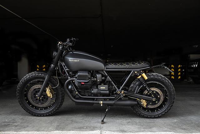 BLACK & GOLD. Moto Guzzi California 1100 by Recast Moto