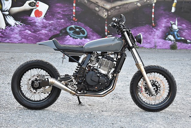 STREET APPEAL: Suzuki DR650 Street Tracker by Seven Motorcycles
