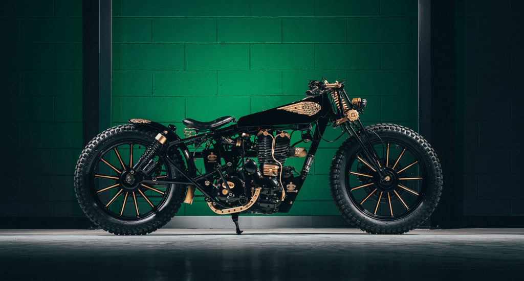 RAJASTHAN TO ROME: Royal Enfield 500 Bullet by GDesign Custom Motorcycle.