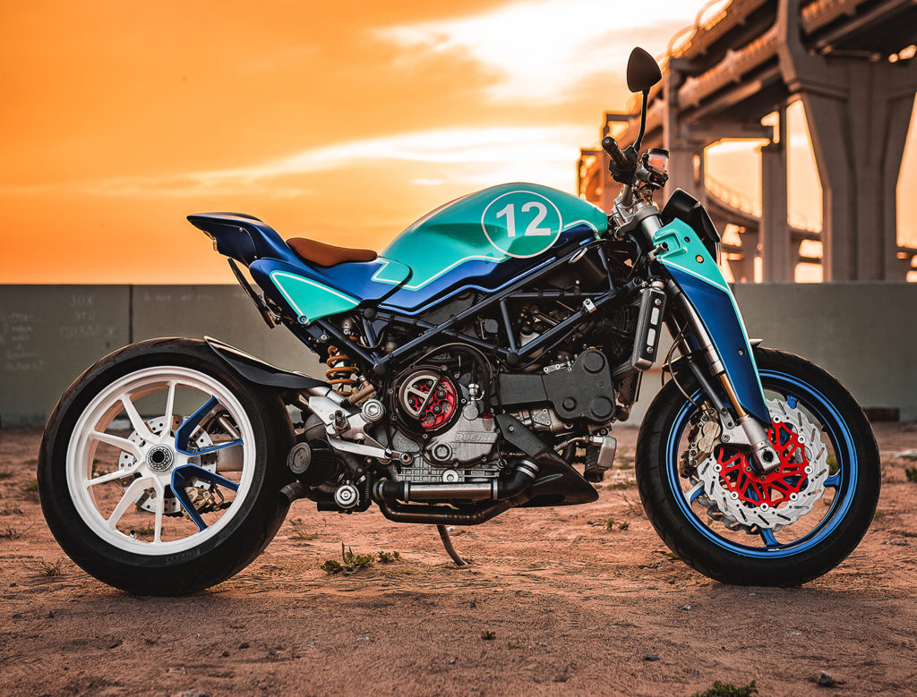 TURBO TIME: Turbocharged Ducati Monster 'Strontium' by Balamutti.