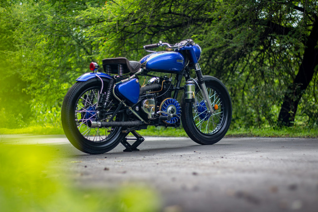 NATIONAL TREASURE: A Diesel 1959 Royal Enfield Bullet 350 by Time Cycles.