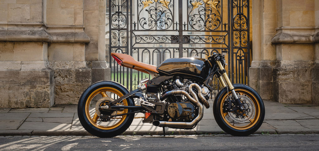 COACH BUILT CAFE RACER: 1981 Yamaha TR1 by Back by Lunchtime Customs.