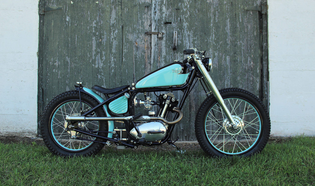 LIKE FATHER, LIKE DAUGHTER: Triumph Tiger Cub 'Aunt Tiny' by LC Fabrications.