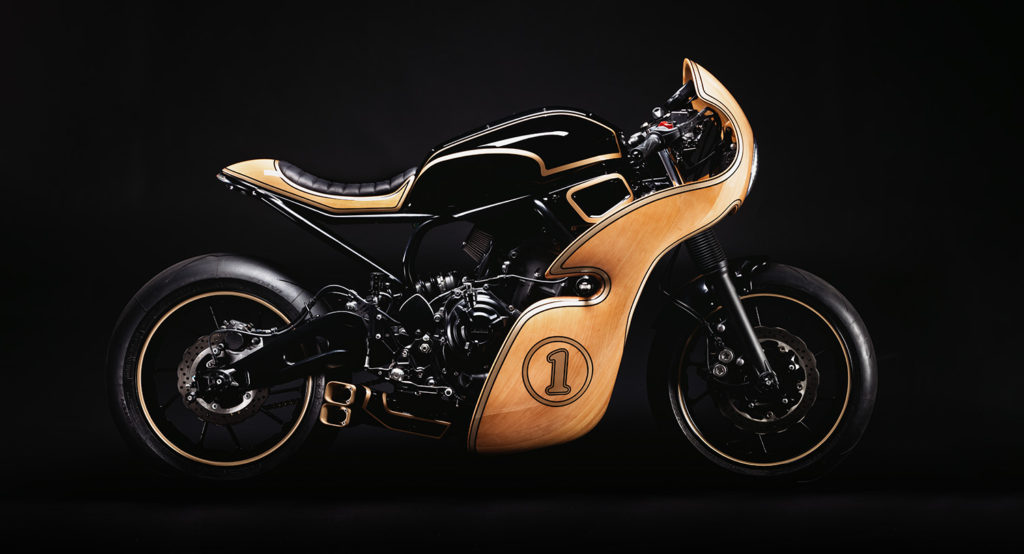 OUTSIDE THE LINES: Yamaha XSR700 'Hommage' by George Woodman Garage.