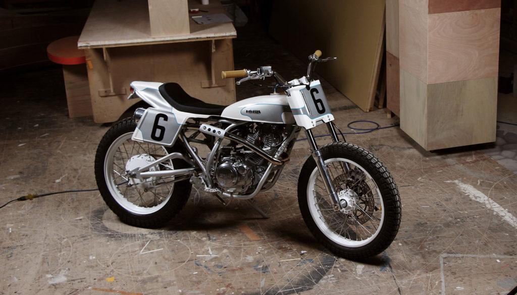 WHITE-PLATE WONDER: Yamaha SR150 by Mike's Garage.