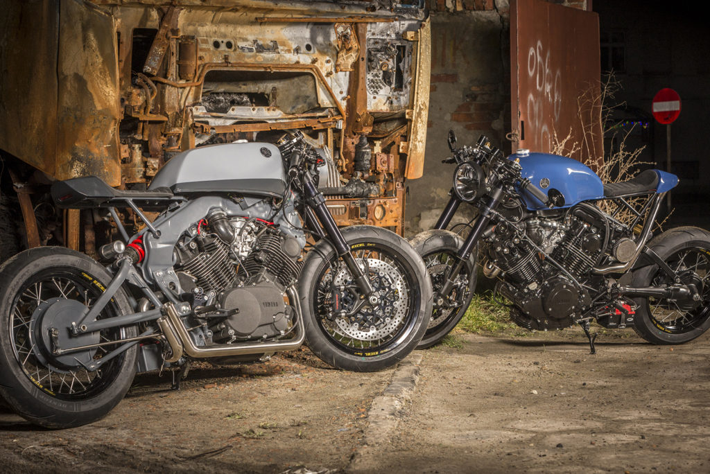 DOUBLE TROUBLE: A pair of Yamaha XV's by Ugly Motors.