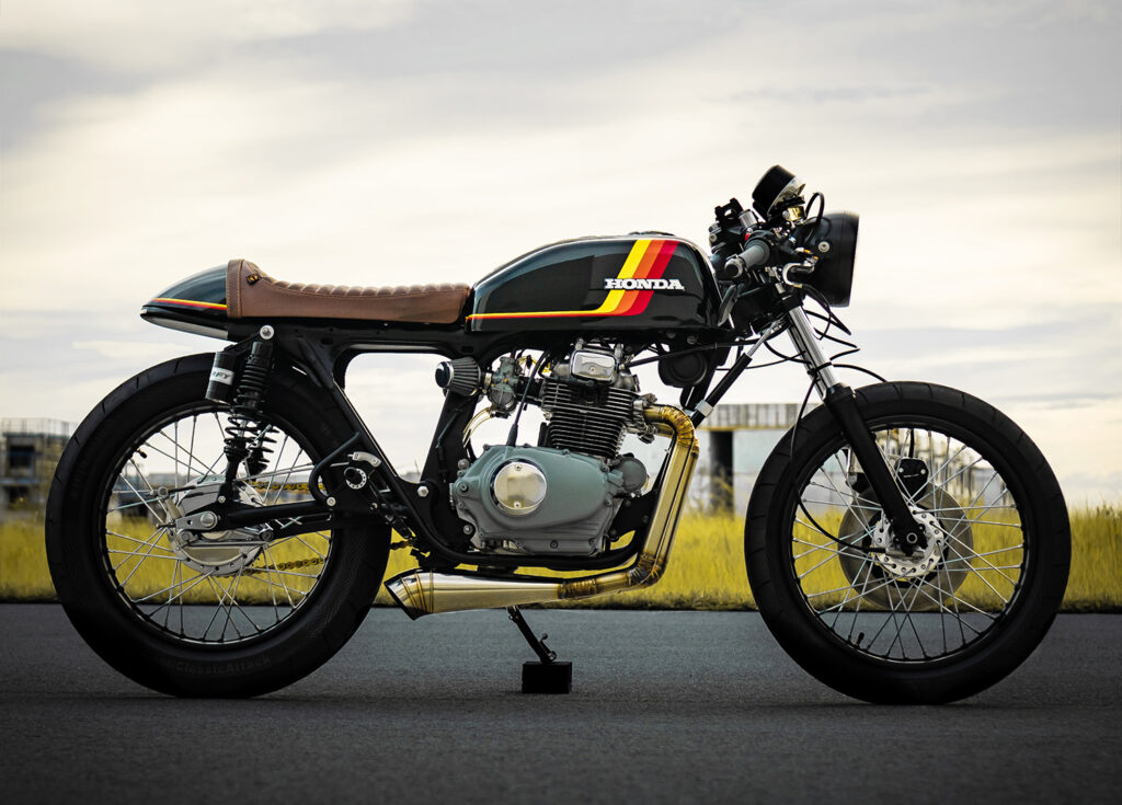HIGHLY CAFFEINATED: 1974 Honda CB200 Café Racer.