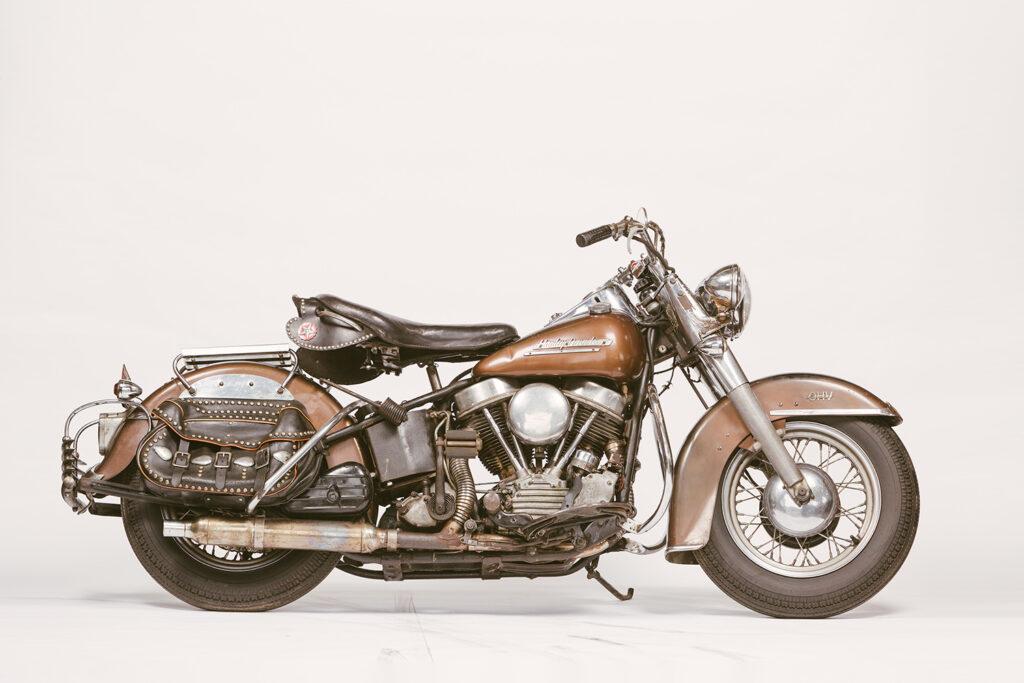 AMERCIAN DREAM: Prism Supply's 1952 Harley-Davidson 'Bronco Bronze'.