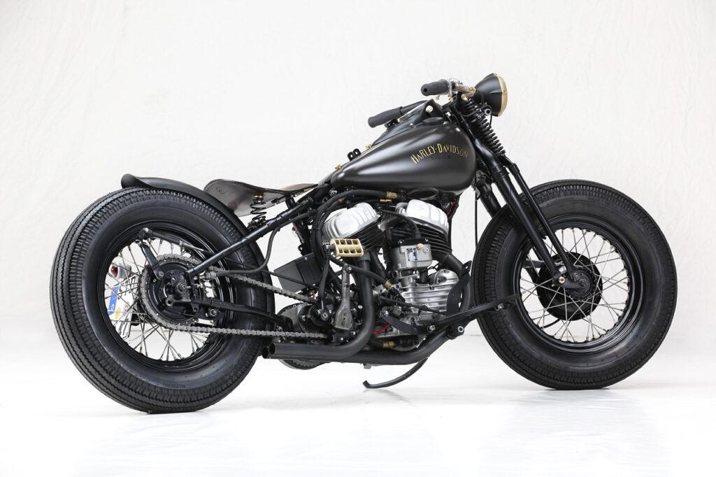 BLACK & BRASS BOBBER: 1942 Harley-Davidson WLA.