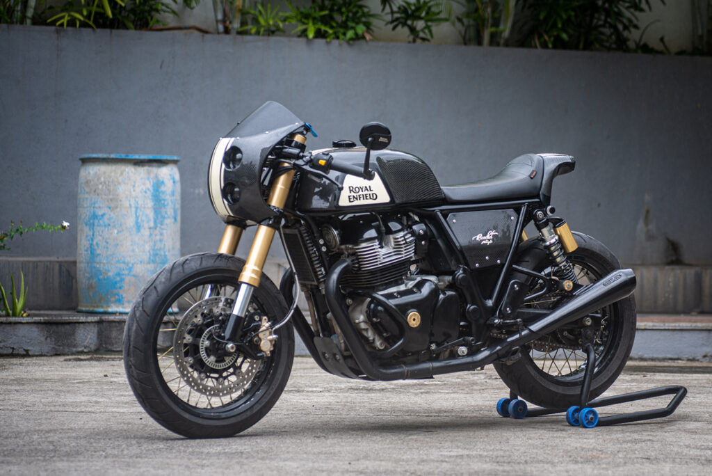 HOME GROWN: Royal Enfield Continental GT 650.